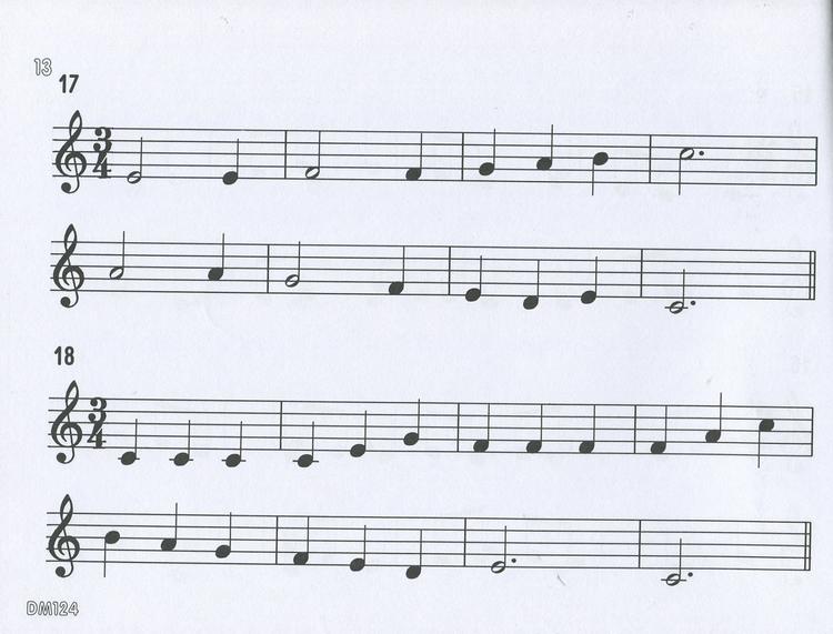 五线谱视唱谱子