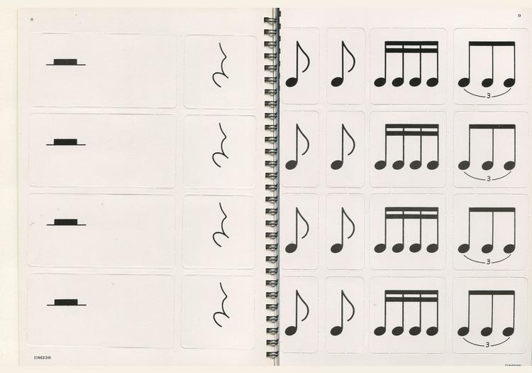 M228 日本DOREMI 音乐节奏教学卡