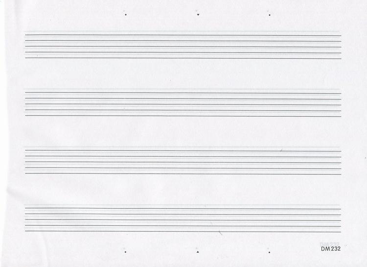 五线谱识谱练习